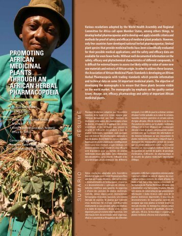 promoting african medicinal plants through an african herbal ...