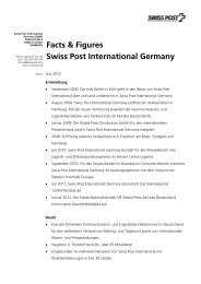 Facts & Figures Swiss Post International Germany
