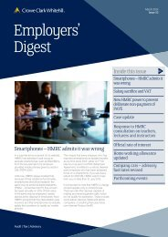 Employers' Digest March 2012 - Crowe Horwath International