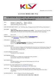 Ausschreibung - LAC WOLFSBERG - Startseite