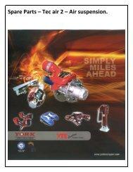 Spare Parts – Tec air 2 – Air suspension. - York Transport Equipment