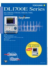 Digital Oscilloscopes DL1700E Series - Yokogawa
