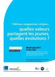 quelles valeurs partagent les jeunes, quelles évolutions ? - Injep