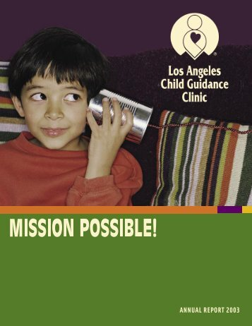 ANNUAL REPORT 2003 - Los Angeles Child Guidance Clinic