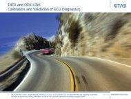 INCA and ODX-LINK Calibration and Validation of ECU Diagnostics