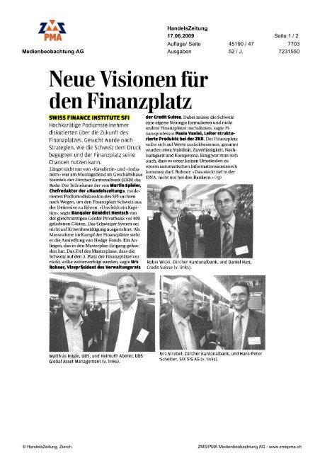 den Finanzplatz - Swiss Finance Institute