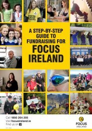Community Fundraising Guide - Focus Ireland