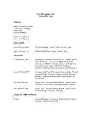 Preeti Ramappa, MD Curriculum Vitae OFFICE - Division of ...