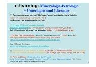 e-learning: Mineralogie-Petrologie - ETH - IGP - geopetro