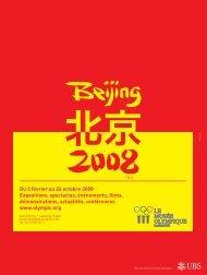 Beijing 2008 - Magazine Sports et Loisirs