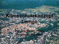 Klimaschutzkonzept Lemgo - LAG Energie NRW