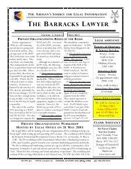 The Barracks Lawyer - Vol. 2, Issue 5 - Davis-Monthan Air Force Base