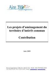Contribution commune AIRE 198 - Aménagement du territoire ...