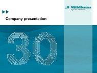 Company presentation - Mühlbauer AG