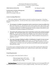 Course Learning Objectives - Graduate School of Political ...
