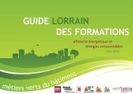 GUIDE LORRAIN DES FORMATIONS - Inffolor