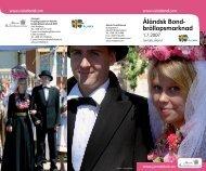 Åländsk Bond- bröllopsmarknad