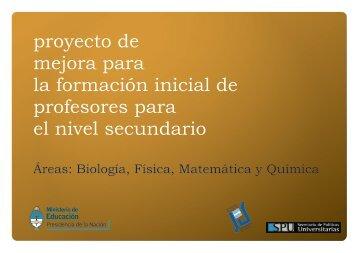 Química - Cedoc - Instituto Nacional de Formación Docente