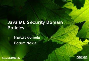 Java ME Security Domain Policies - download - Java