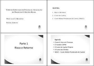 Parte 1 Risco e Retorno - IAG - A Escola de Negócios da PUC-Rio