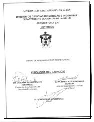 Fisiología del Ejercicio - Centro Universitario de los Altos