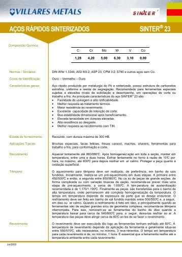 SINTER23 a - Villares Metals