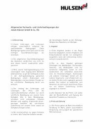 AGB in Deutsch (PDF-Download) - Jakob Hülsen GmbH & Co. KG