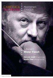 Abonnement 2010/2011 5. Konzert Wiener Klassik - Camerata ...