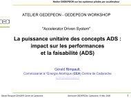 La puissance unitaire des concepts ADS : impact sur les ... - gedepeon