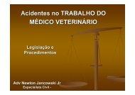 Acidentes no TRABALHO DO MÉDICO VETERINÁRIO - SOVERGS