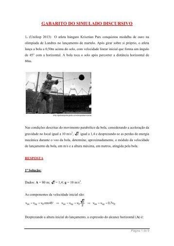 GABARITO DO SIMULADO DISCURSIVO - Página não encontrada