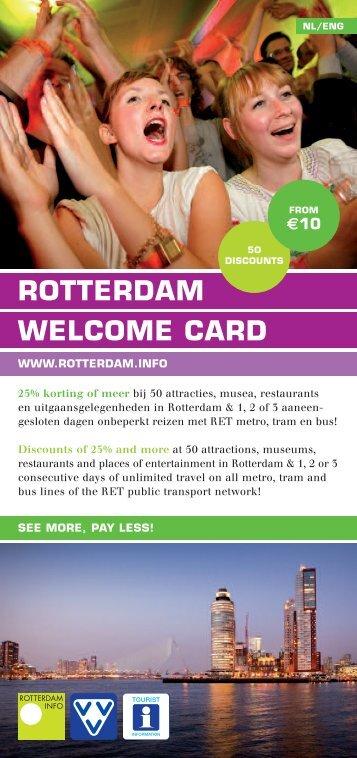 Download de Rotterdam Welcome Card flyer - Rotterdam.info