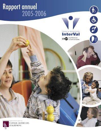 Rapport annuel - Centre de réadaptation InterVal