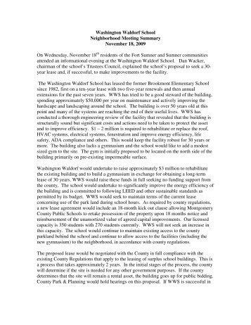 parent interest and talent survey - Washington Waldorf School