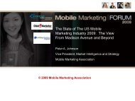 The State of The US Mobile Marketing Industry 2009: The View From ...