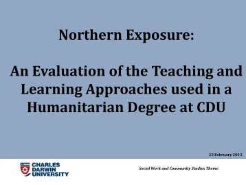 Northern Exposure: An Evaluation of the Teaching and ... - ntgpe
