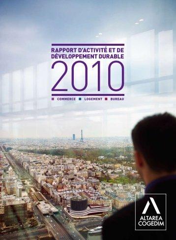 rapport d'activité et de développement durable - Altarea Cogedim