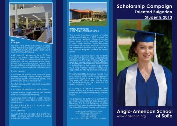 Brochure 1 - The Anglo-American School of Sofia