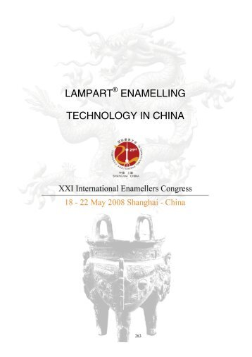 Lampart® Enamelling Technology in China - IEI, International ...