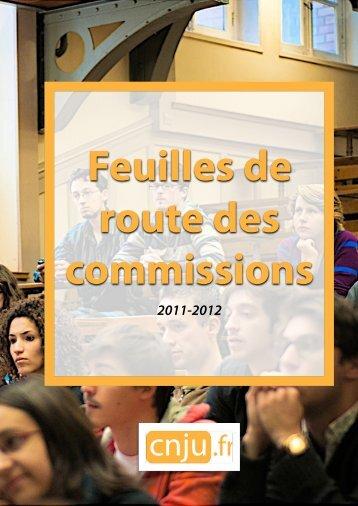 Feuilles de route des Commissions CNJU