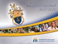 Rapport annuel 2005 - 2006 - Université de Moncton