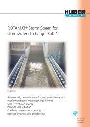 Brochure HUBER ROTAMAT® Storm Screen for stormwater ...