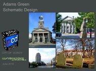 Adams Green Schematic Design - City of Quincy