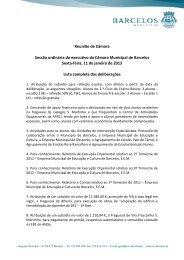 lista completa de deliberações - Município de Barcelos