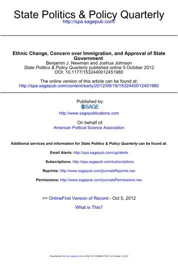 State Politics & Policy Quarterly - Department of Political Science ...