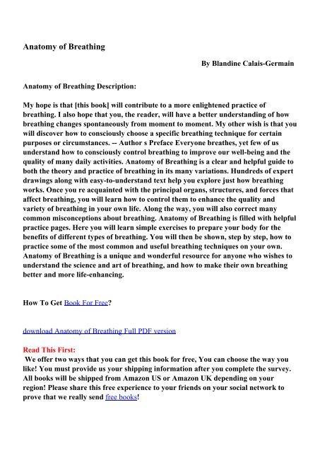 Anatomy Of Breathing Pdf Ebooks Free Download