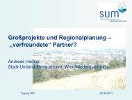 Präsentation - Stadt-Umland Management