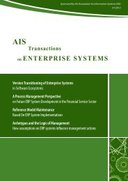 AIS Transactions on Enterprise Systems - GITO Verlag