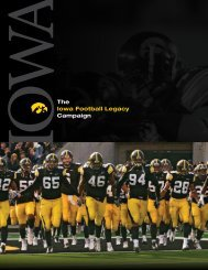 The Iowa Football Legacy Campaign - University of Iowa Foundation