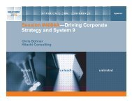 Driving Corporate Strategy and System 9 - Hitachi Consulting